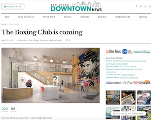 San Diego Downtown: The Boxing Club is Coming