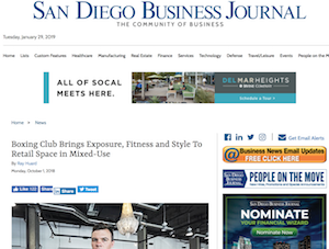 SDBJ: Boxing Club Brings Exposure, Fitness and Style