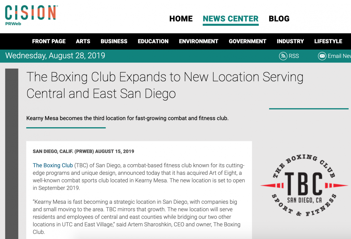 TBC in the Press | The Boxing Club