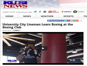 USI: University City Lineman Learn Boxing at The Boxing Club
